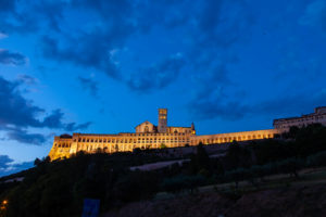 Assisi monastery at night